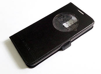 Чехол книжка с окошком momax для LG K8 k350e черный