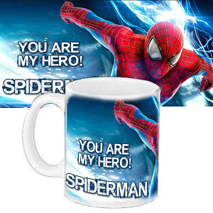 Детская чашка с принтом Спайдермен