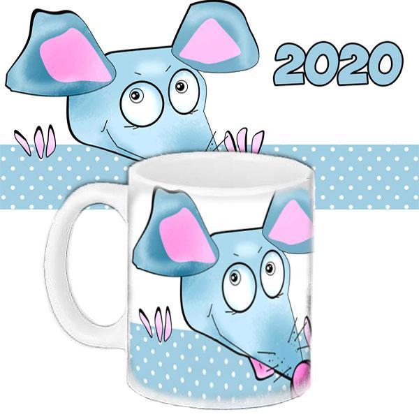 Чашка Moderika белая с рисунком Мишка 2020 (33442)