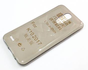 Чехол для LG K10 2017 m250n x400 силиконовый ультратонкий прозрачный серый