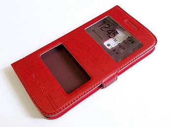 Чехол книжка с окошками для LG K10 k420 / k430ds красный