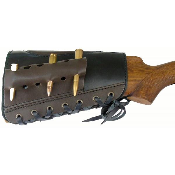 Патронташ Медан 2004 кожаный на приклад 7,62x54 *6 патронов