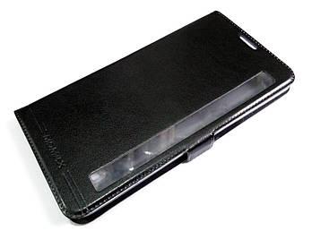 Чехол книжка с окошком для LG Stylus 2 K520 черный