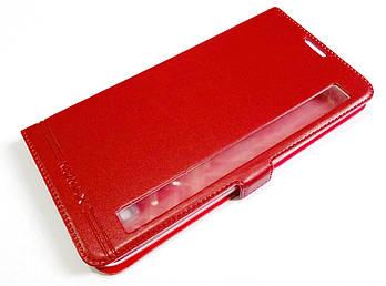 Чехол книжка с окошком для LG Stylus 2 K520 красный