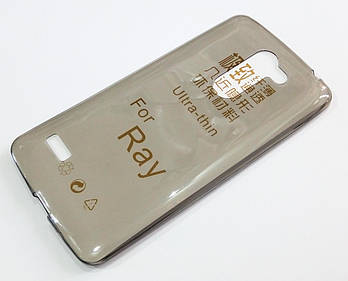 Чехол для LG Ray X190 силиконовый ультратонкий прозрачный серый