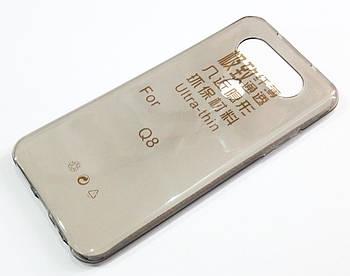 Чехол для LG Q8 H970 (2017) силиконовый ультратонкий прозрачный серый