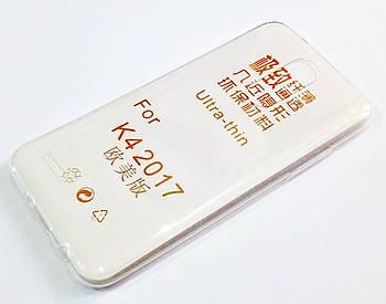 Чехол для LG K4 M160 (2017) силиконовый ультратонкий прозрачный