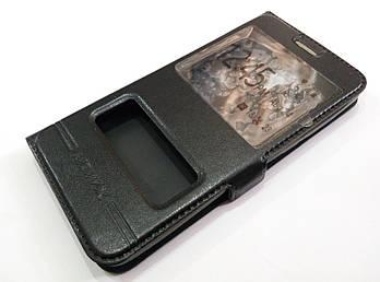 Чехол книжка с окошками momax для Meizu M2 черный