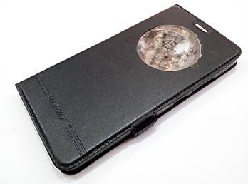Чехол книжка с окошком momax для Meizu M3e черный
