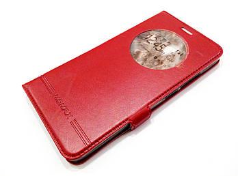 Чехол книжка с окошком momax для Meizu M3e красный