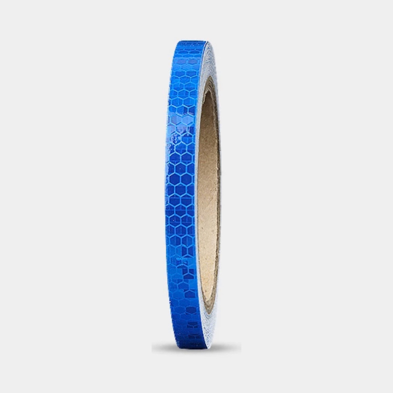 Универсальная светоотражающая самоклеющаяся лента для контурной маркировки транспорта (синий цвет) 1 м