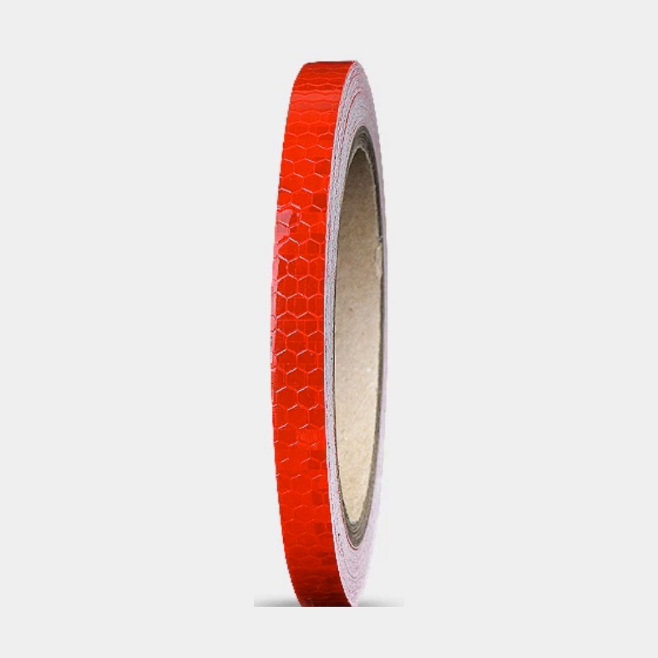 Универсальная светоотражающая самоклеющаяся лента для контурной маркировки транспорта (красный цвет) 1 м