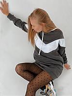 """Спортивне плаття-туніка на флісі з капюшоном """"Sport"""", фото 1"""