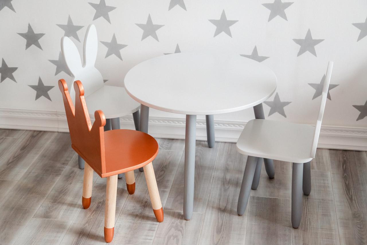 Комплект столик + 3 стульчика белый KR120