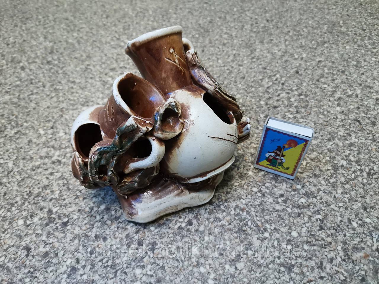 С304 Керамическая декорация для аквариума Амфоры