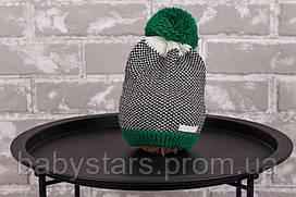 """Вязаная шапка """"Ray"""", зеленая"""
