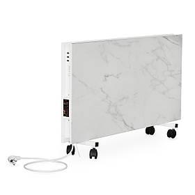 Керамическая отопительная панель FLYME 1200PW (белый мрамор) c программатором и ножками