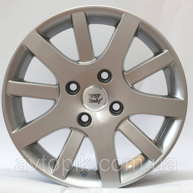 Литі диски WSP Italy Peugeot (W850) Lyon R17 W7 PCD4x108 ET28 DIA65.1 (silver)