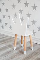 Детский стул Принцесса белый KR113