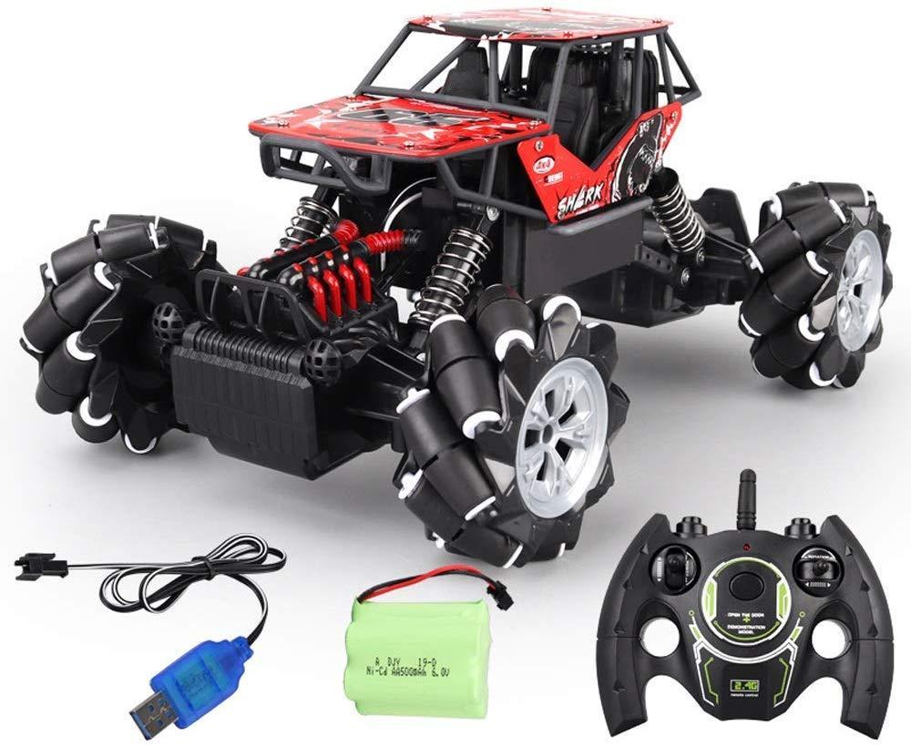 Трюковая машинка на радиоуправлении Monster Drift Stunt Car 4WD 1:16 с функцией ездить боком (Красная)