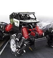 Трюковая машинка на радиоуправлении Monster Drift Stunt Car 4WD 1:16 с функцией ездить боком (Черная)