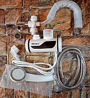 Проточный водонагреватель Delimano с душем, подключение боковое (Живые фото)