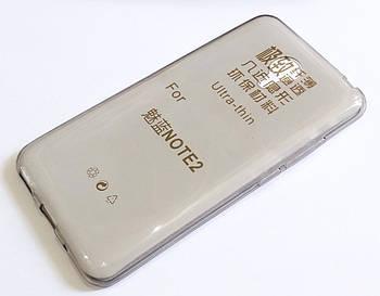 Чехол для Meizu M2 Note силиконовый ультратонкий прозрачный серый