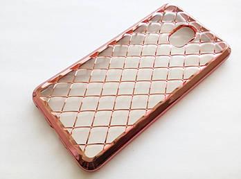 Чехол зеркальный для Meizu M3 note розовый