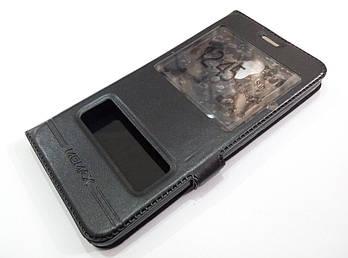 Чехол книжка с окошками momax для Meizu M5 Note черный