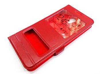 Чехол книжка с окошками momax для Meizu M5 Note красный