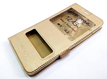 Чехол книжка с окошками momax для Meizu M5 Note золотой