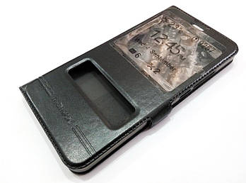 Чехол книжка с окошками Momax для Meizu M6 Note черный