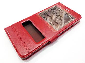 Чехол книжка с окошками Momax для Meizu M6 Note красный
