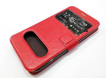 Чехол книжка с окошками momax для Meizu MX3 красный