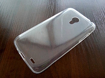 Чехол для Meizu MX3 силиконовый ультратонкий прозрачный серый