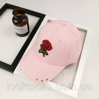 Жіноча літнє кепка з Трояндою рожева