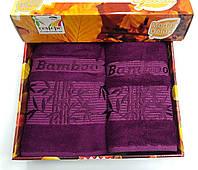 Комплект бамбуковых полотенец фиолетовый