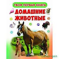 """Книга-картонка А-4 """"Твоя первая книга. Домашние животные"""" (рос.) (9789669363916)"""
