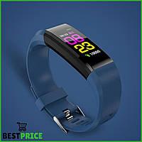 Часы фитнес-браслет с измерением пульса и давления Smart Band B05 Синий