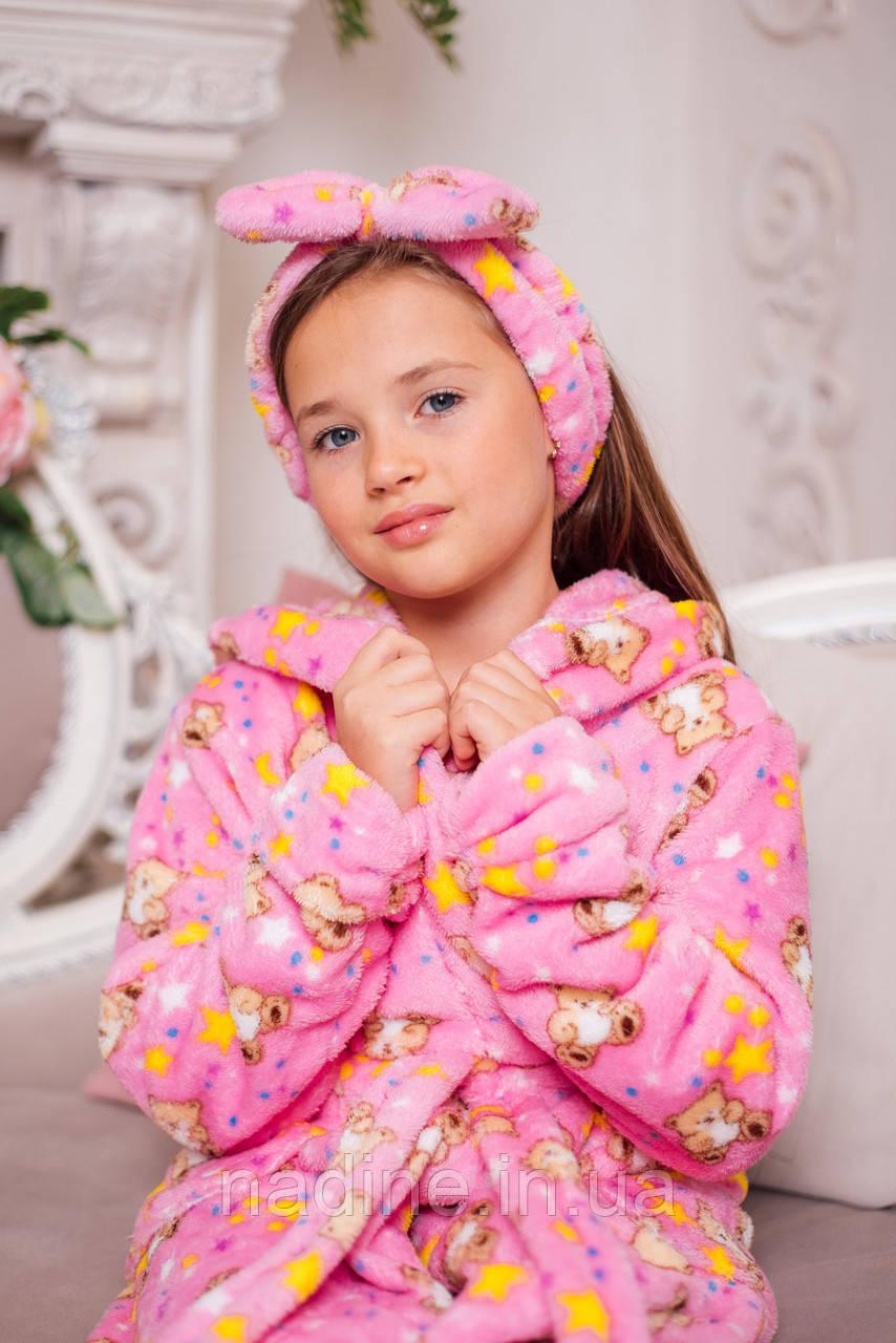 Халат Мишутка на девочку  Eirena Nadine (40-625) на рост 140 розовый
