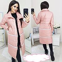 Куртка трансформер удлиненная женская зимняя