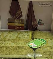 Комплект бамбуковых полотенец зеленый