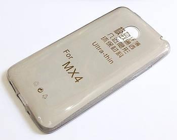 Чехол силиконовый ультратонкий для Meizu MX4 затемненный