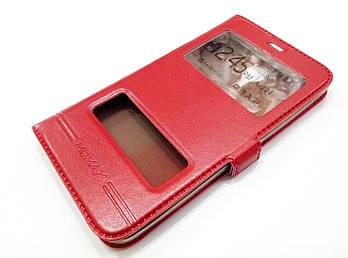 Чехол книжка с окошками momax для Meizu MX4 красный