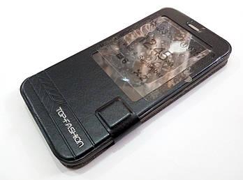 Чехол книжка с окошком momax для Meizu MX5 черный