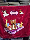 Одеяло плед детское 100 x 110 двойное Плюшевое Качество бомба Красный