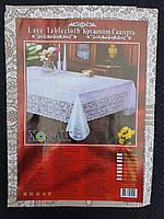 Скатертина для столу вінілова бежева 110х140 см.