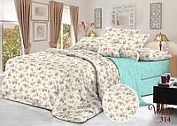 Комплект постельного белья сатин 314 - Двуспальный Евро