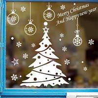 Набор Новогодних Наклеек на окна 70х50 см, XSD-004