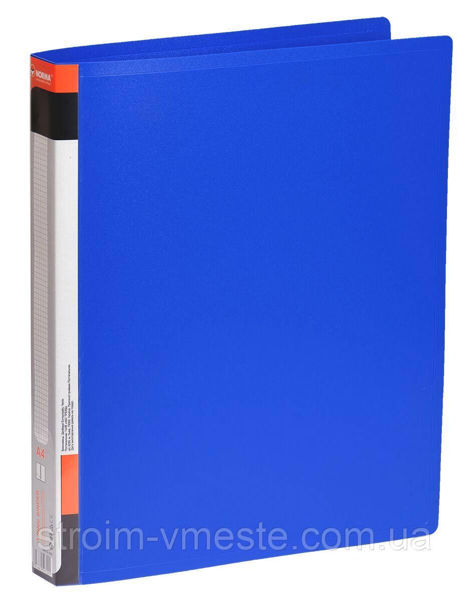 Папка-регистратор A4 NORMA 5072 4,5 см 4 кольца синяя